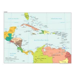 weltatlas-online.de - Karibik (Deutschsprachig, DIN-A4)