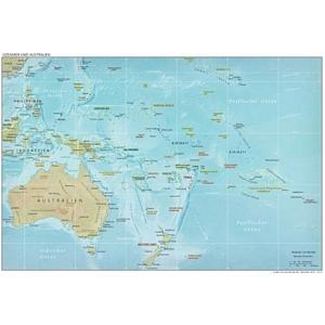 weltatlas-online.de - Ozeanien / Australien (Deutschsprachig, DIN-A4)