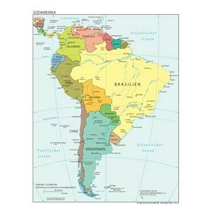 weltatlas-online.de - Südamerika (Deutschsprachig, DIN-A4)